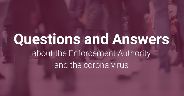 Questions & Answers about the Enforcement Authority and the corona virus